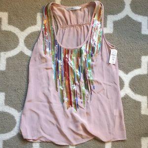 NWT Trina Turk silk blouse size petite